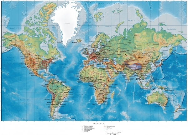 Hilly terrain map of the world vector Free vector in Adobe ...