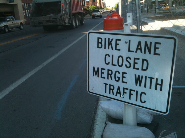 dedicated bike lane