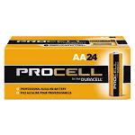 Duracell Procell Alkaline Batteries, AA, 24 Batteries (DURPC1500BKD)