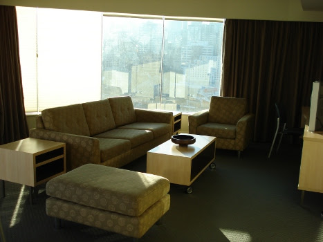 Convention apartment lounge