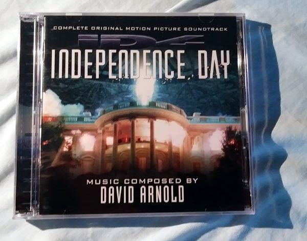 My CD copy of David Arnold's complete music score for 1996's INDEPENDENCE DAY.