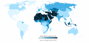 English: The Muslim population of the world ma...