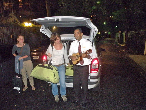 Coming home to a serenading taxi driver
