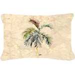 Carolines Treasures 8483PW1216 12 x 16 In. Palm Tree Indoor & Outdoor Fabric Decorative Pillow