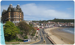 grand hotel over the beach by dropstitch