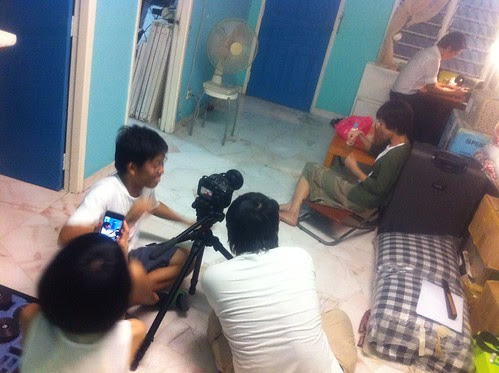 Shooting an apartment scene with Ley Teng and Berg Lee 2