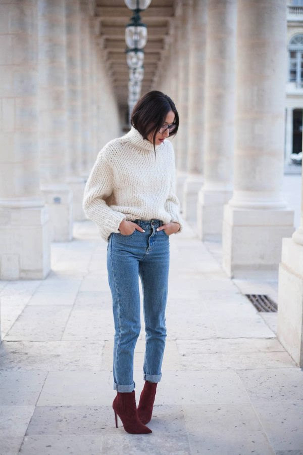 5 ways to style your mom jeans right now  glitter guide