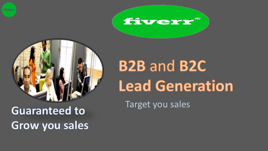 I will supply B2B or B2C Lead generation