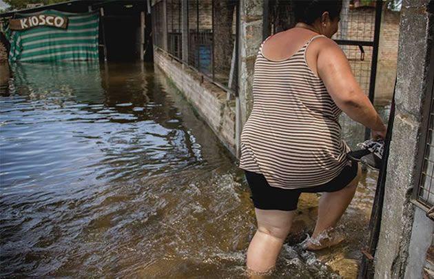 Advierten sobre enfermedades en zonas inundadas