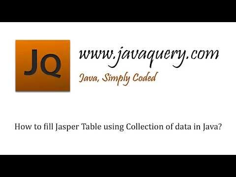 Java by examples: How to fill Jasper Table using Collection of data