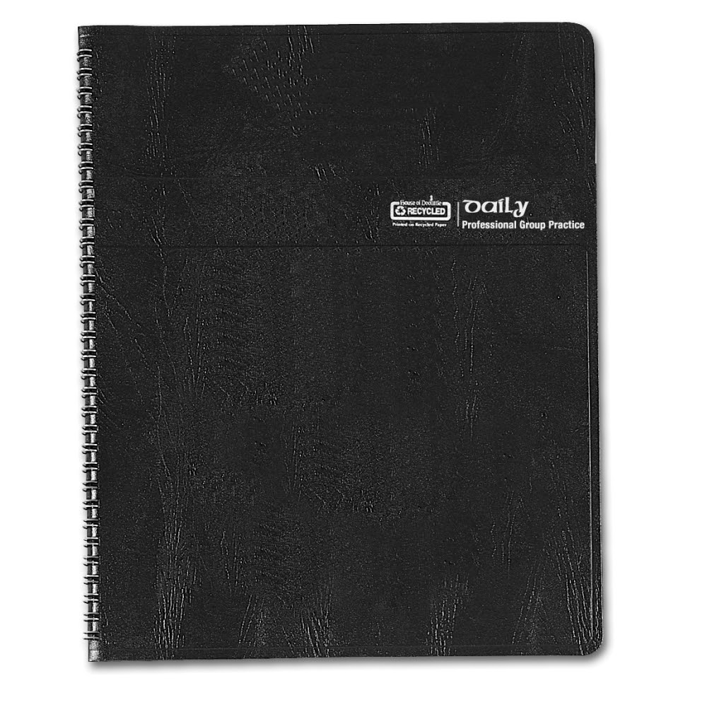 Daily Group Planner 4-Person Black 8-1/2 x 11 Inches   House of ...