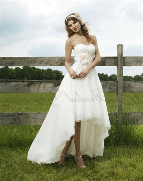 High Low Wedding Dress With Cowboy Boots   Wedding Dress
