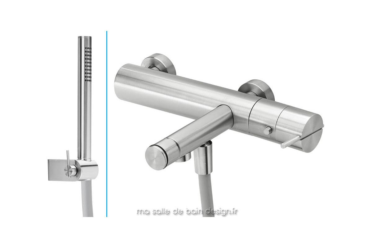 Mitigeur Thermostatique Bain Douche Design En Inox Brosse S22 By Water Evolution