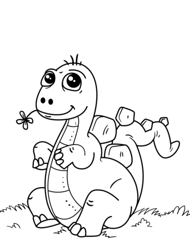 50 Cute Dino Coloring Pages For Free