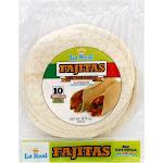 La Real Tortillas, Flour, Big, Fajitas - 10 tortillas, 17.5 oz