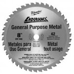 Milwaukee Electric Tool ML48-40-4515 Saw Circular 42 Teeth 8 in. Metal Cut Blade