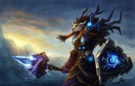 Wallpaper wow, shaman, world of warcraft, Horde, tauren