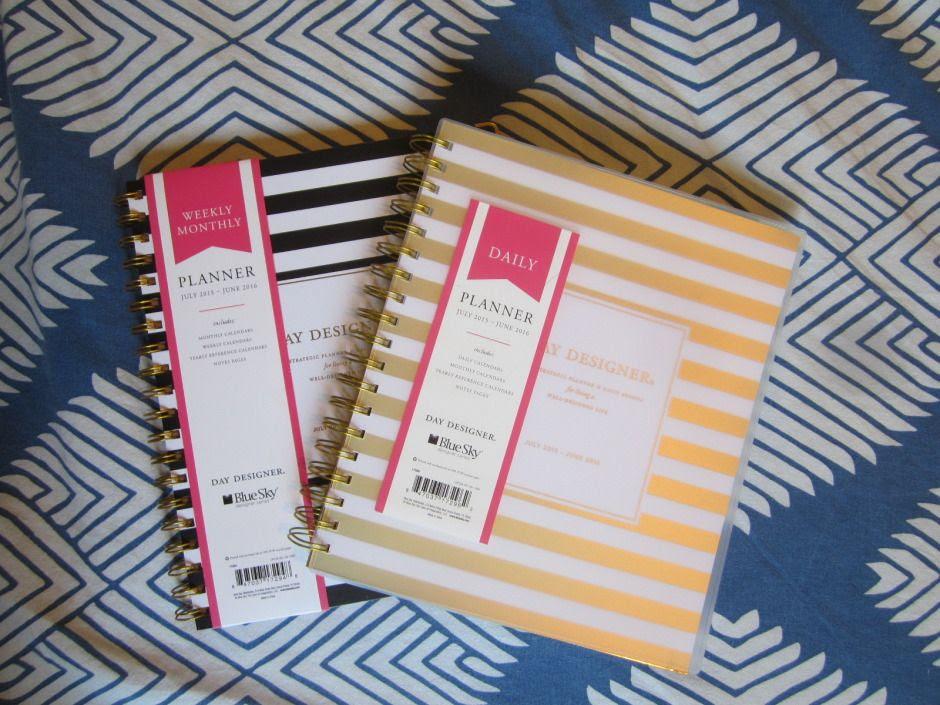 Day Designer for Blue Sky Target Gold Stripe Daily   Planner ...