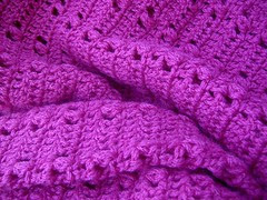hand crocheted hot pink jumper