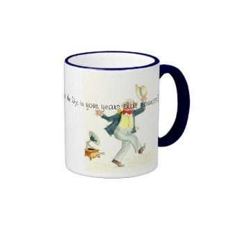 'Young at Heart' Coffee Mug with Quote