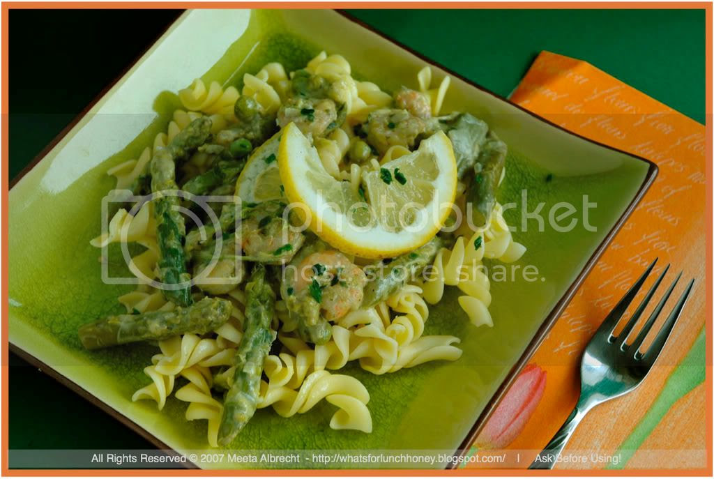 Shrimp and Asparagus Pasta (01) by Meeta Albrecht