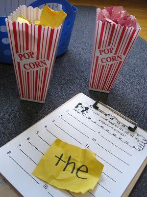 Popcorn Words! FREE printable