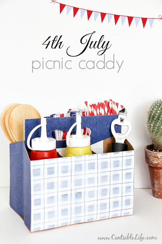 DIY Patriotic Picnic Caddy for July 4th - Centsible Life