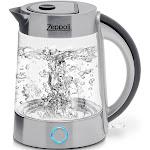 Zeppoli Electric Kettle (BPA Free) - Fast Boiling Glass Tea Kettle (1.7L)