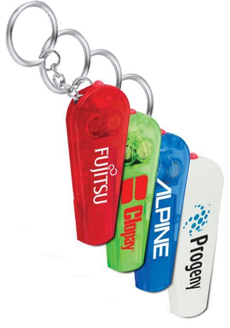 Personalized Pocket Whistle Key Lights Keychains   SM9768
