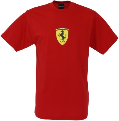 Ferrari TShirt with large Scudetto print  Red SFR1118