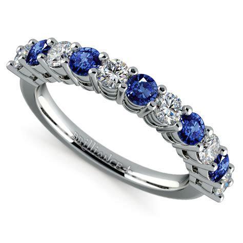 Eleven Diamond & Sapphire Wedding Ring in Platinum