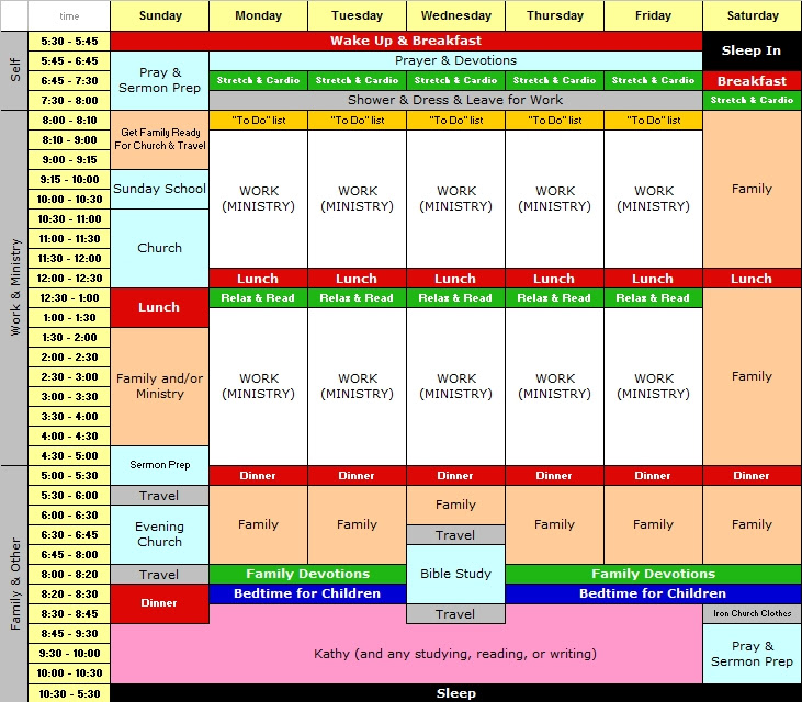 Free Weekly Schedule Template for Anyone Wanting to Take Back ...