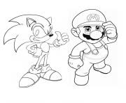 Coloriage Sonic à Imprimer