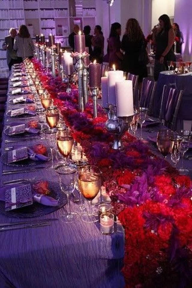 Purple Wedding Tables 2060719 Weddbook