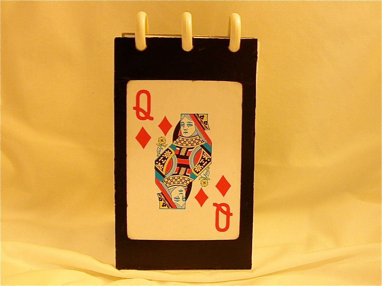 Playing Card PDA 3X5 refillable fliptop notebook,recycled materials