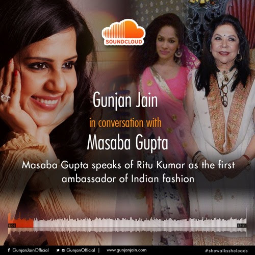 Masaba Gupta speaks about Ritu Kumar in the book She Walks She Leads by Gunjan Jain