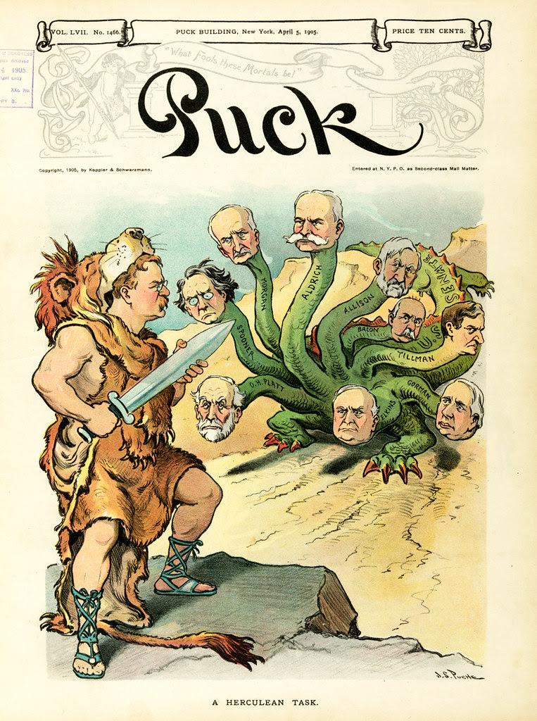 Udo J. Keppler - Illustration in Puck, v. 57, no. 1466 (1905 April 5), cover