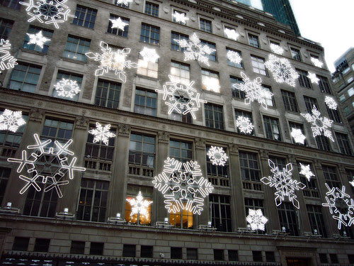 Snowflake Light Show Saks Fifth Avenue 2006