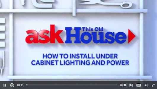 How To Install Under Cabinet Lighting & Power
