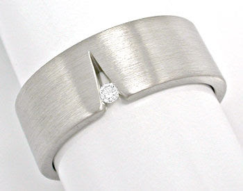 Original-Foto 1, ORIGINAL NIESSING BRILLANT-RING GRAU-WEISSGOLD SHOP NEU