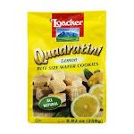 Quadratini Bite Size Wafer Cookies Lemon