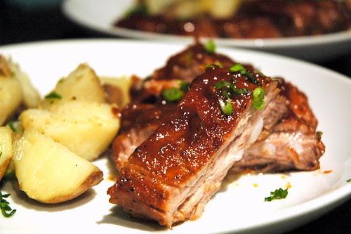 roasted ribs