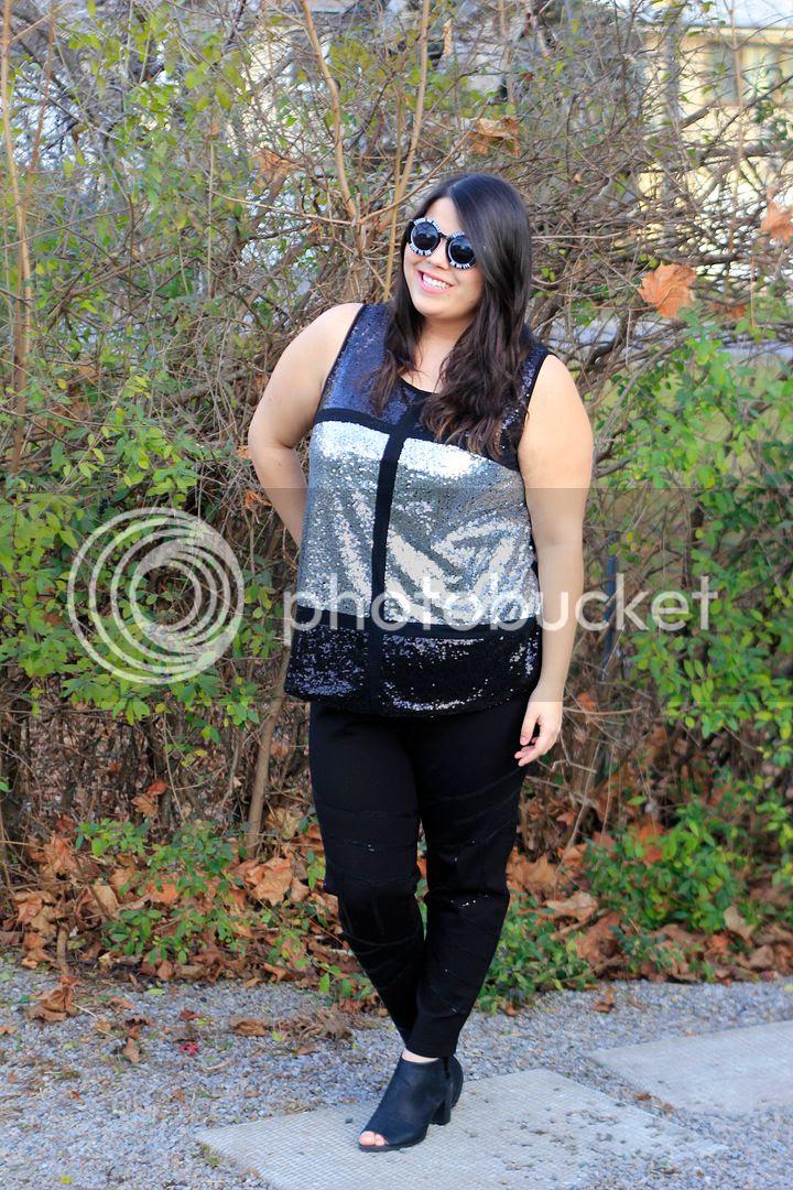 Modamix Plus Size Fashion Sequins Holiday Look 2015 Jessica Ip Toronto Plus Size Fashion Blogger