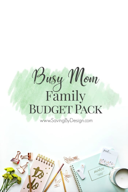 Messy Finances? The Busy Mom Family Budget Pack is for YOU!