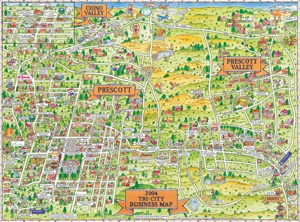 Prescott Az Elevation Map | Map North East