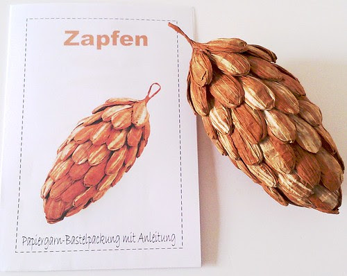 paper twine pine cone