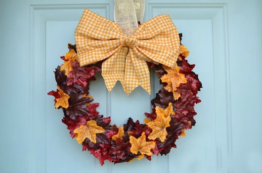 Fall Leaf Wreath | Crafts | Pinterest | Fall leaves, Easy fall wreaths and Wreaths