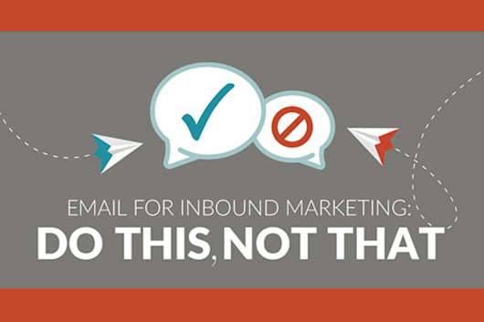Email for Inbound Marketing: Do This, Not That (infographic)