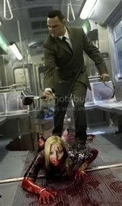 The Subway butcher is having a meeting with one of his victim... - The Midnight Meat train