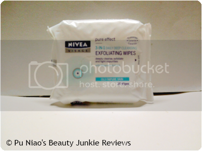 Nivea Visage Pure Effect 3-in-1 Daily Deep Cleansing Exfoliating Wipes